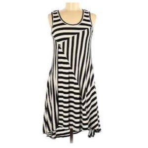 NWT Philosophy Republic Black Striped Dress -  PXL